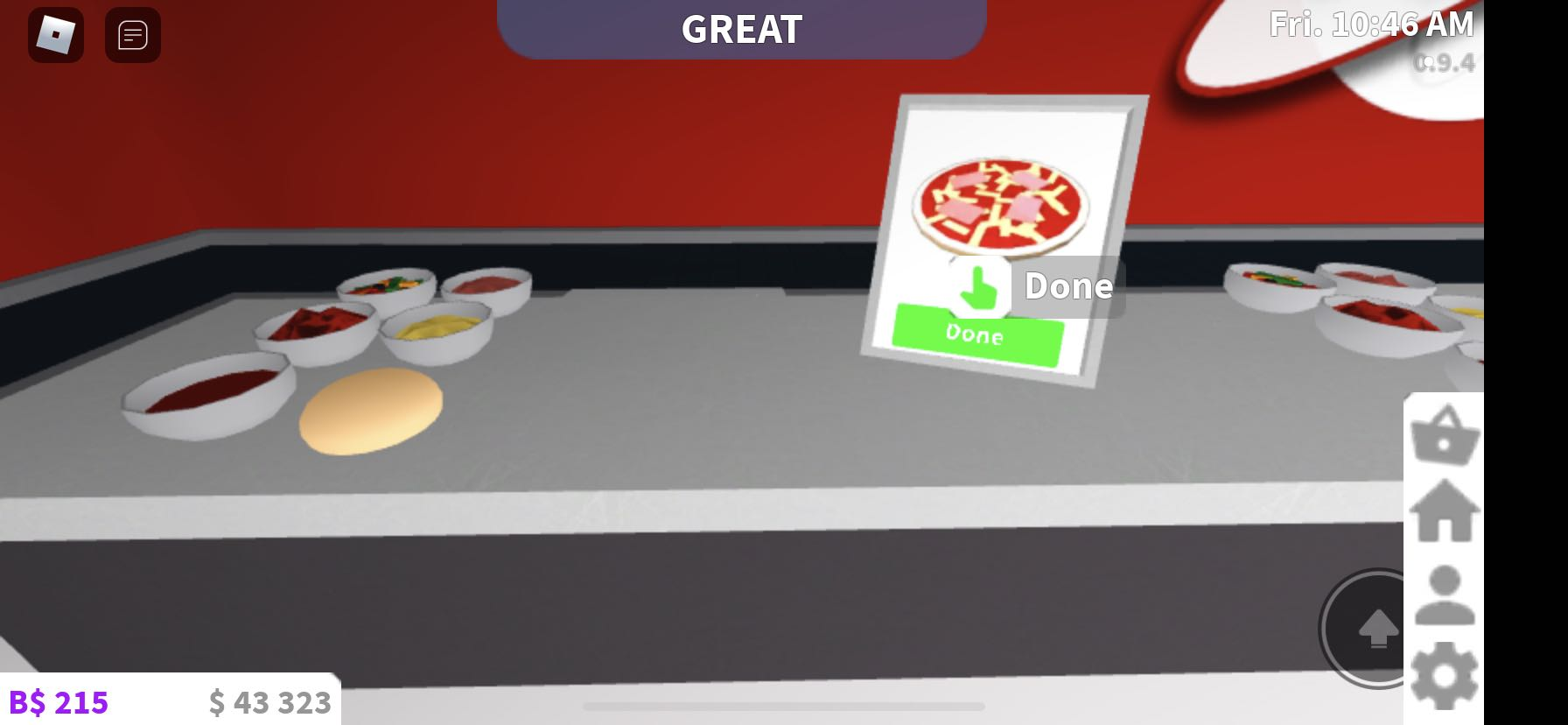 Making a pizza in Welcome To Bloxburg